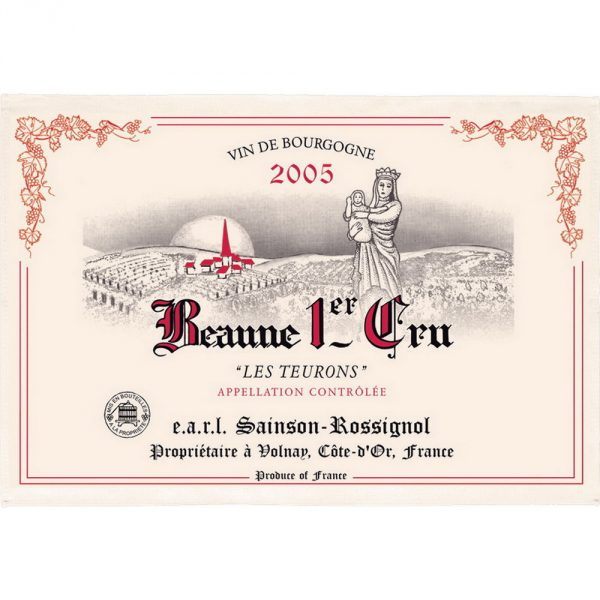 Beaume 1er Cru - Bourgogne Collection - Torchons & Bouchons Kitchen Towel