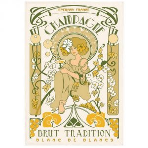 Champagne Art Deco - Champagne Collection - Torchons & Bouchons Kitchen Towel