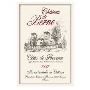 Chateau De Berne - Provence Cote D'azur Collection - Torchons & Bouchons Kitchen Towel