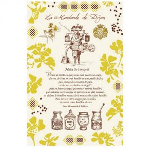 La Moutarde De Dijon - Bourgogne Collection - Torchons & Bouchons Kitchen Towel