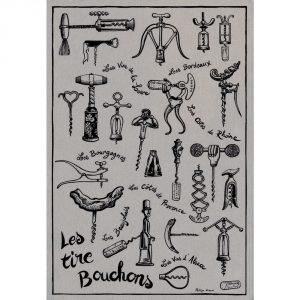 Les Tire Bouchons - Gastronomie Le Lin Collection - Torchons & Bouchons Kitchen Towel