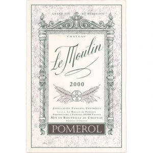 Pomerol Chateau Le Moulin - Bordeaux Collection - Torchons & Bouchons Kitchen Towel