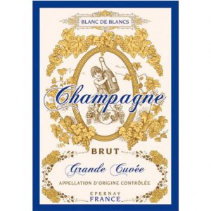 Champagne Brut - Champagne Collection - Torchons & Bouchons Kitchen Towel