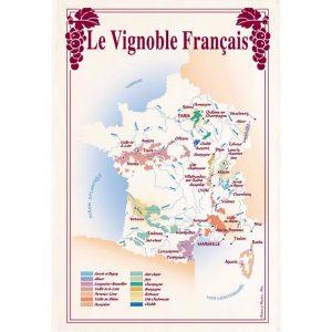 Carte Des Vins De France - Vins & Saveurs Collection - Torchons & Bouchons Kitchen Towel