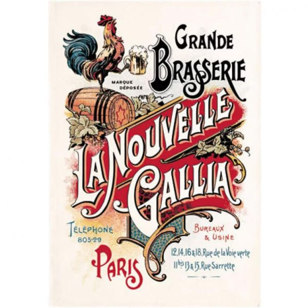 Biere Brasserie Gallia - Paris Collection - Torchons & Bouchons Kitchen Towel