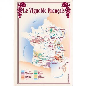 Vignoble Francais - Vins & Saveurs Collection - Torchons & Bouchons Kitchen Towel