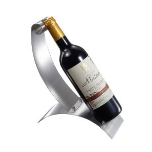 Pavie Stainless Steel Wine Bottle Holder