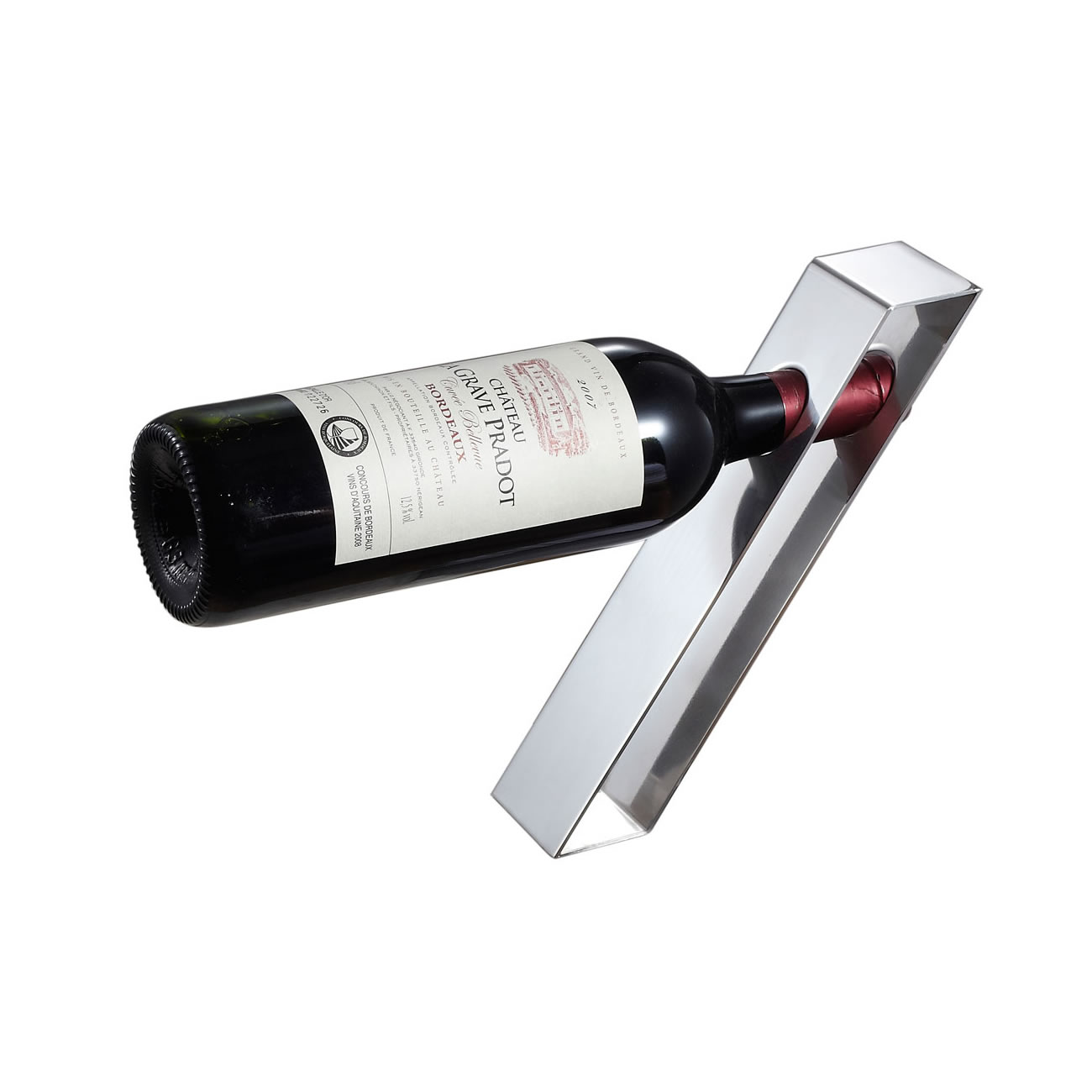Bellet Stainless Steel Wine Bottle Holder Vino Bruno